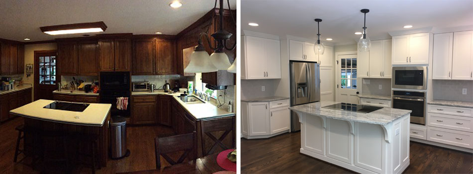 Before and After Cary Kitchen Remodel